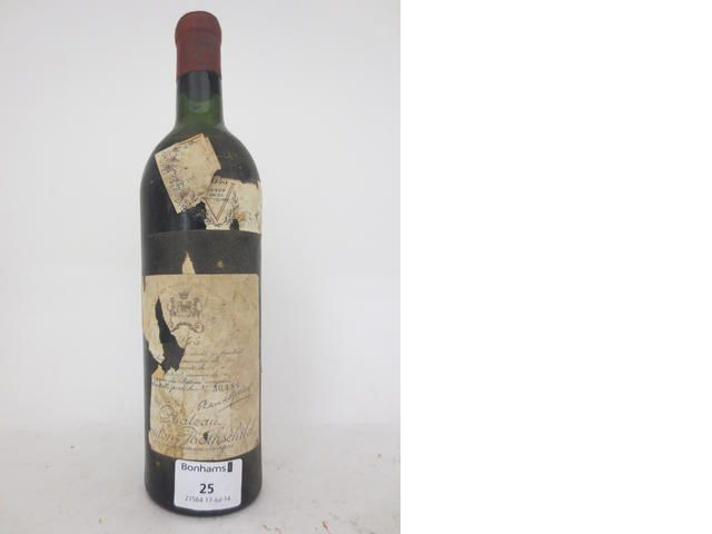 Chateau Mouton Rothschild 1945 (1) § Sold for £3,525 (US$ 5,966) inc. premium