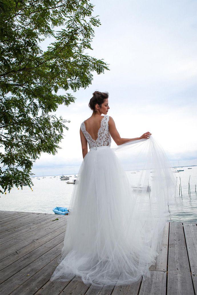 Marie Laporte - Robes de mariée - Collection 2016 - Paris | Modèle: Eline | Crédits: Marie Laporte | Donne-moi ta main - Blog mariage