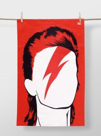 Bowie Tea Towel   Hello Polly