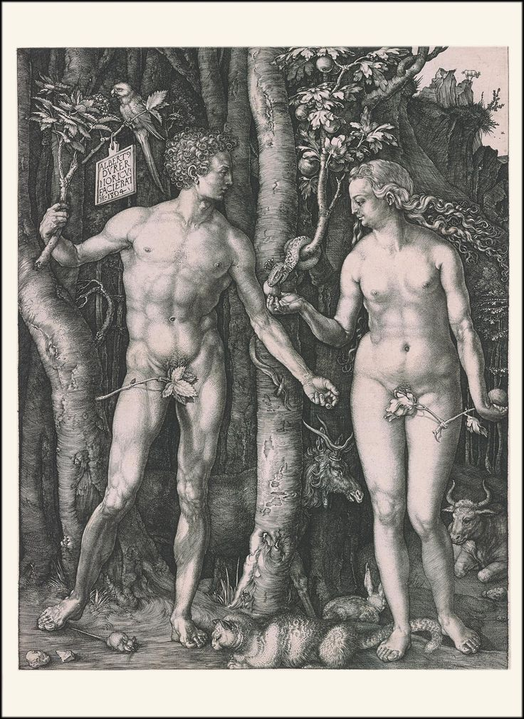 Adam and Eve | Albrecht Dürer (1471-1528) | 5 x 7 inches | 6 cards and envelopes