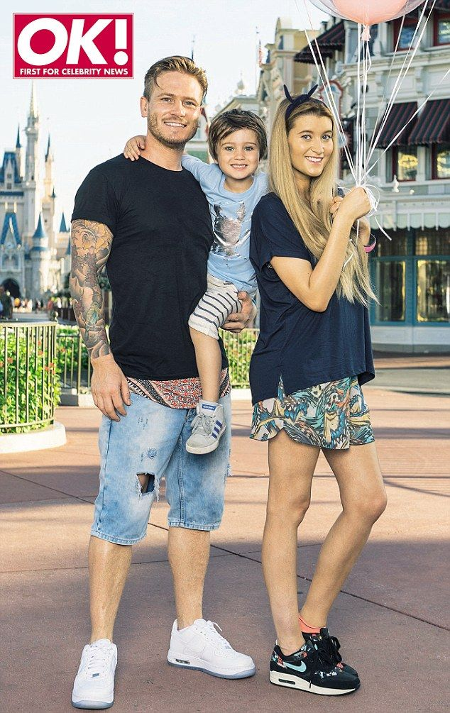 'This pregnancy has been easier': Emmerdale's Charley Webb and Matthew Wolfenden talked about the arrival of their second child, shown here on a visit to Disneyland