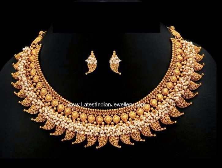 Mango Motifs Bold Traditional Necklace | Latest Indian Jewellery Designs