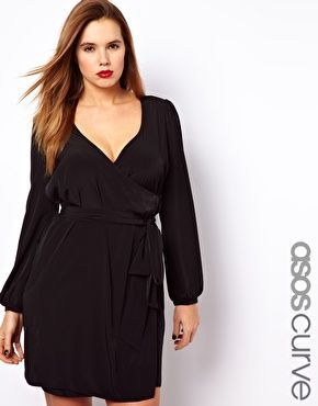 Image 1 ofASOS CURVE Exclusive Dress With Wrap