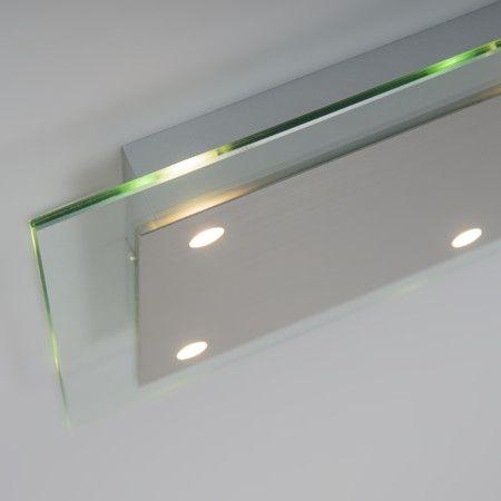 Deckenleuchte Credo 4 quadratisch hell: Sehr schöne Deckenleuchte, bestehend aus einer quadratischen Klarglas-Platte mit LED-Beleuchtung. Sehr minimalistisch und überall einsetzbar. #innenbeleuchtung #licht #modern #deckenbeleuchtung #minimalistisch