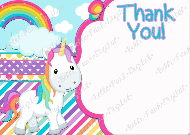 This listing is for a digital file. No physical product will be mailed. Rainbow UnicornThis can come in a 5x7 size or a 4x6 size. It also comes with a matching FREE Thank you note that you can personalize any way that you want! Please, Please, Please (Yes, I might be begging) read the following information if you have any questions about the ordering process. **We do many other items to match this design, JUST ASK! We do Invitations, Thank you cards, Cupcake wrappers, Cupcake toppers,...