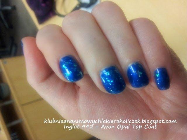 Klub Nieanonimowych Lakieroholiczek: Inglot 942 + Avon Opal Top Coat