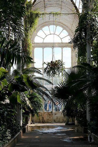 Palm House at the Royal Botanic Gardens in London