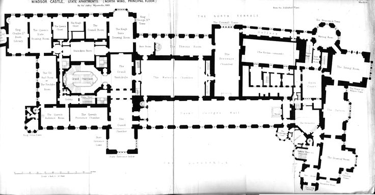 Windsor Castle First Floor Plan Under George Iv Circa