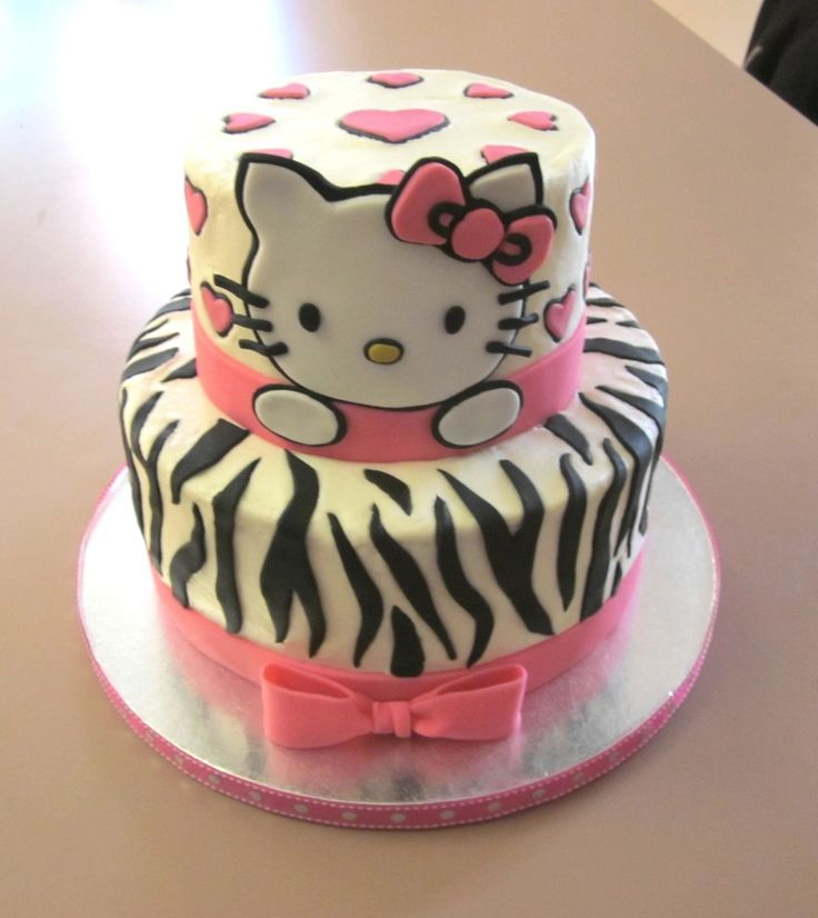 Hello Kitty Cake...birthday cake idea for a three year old ...