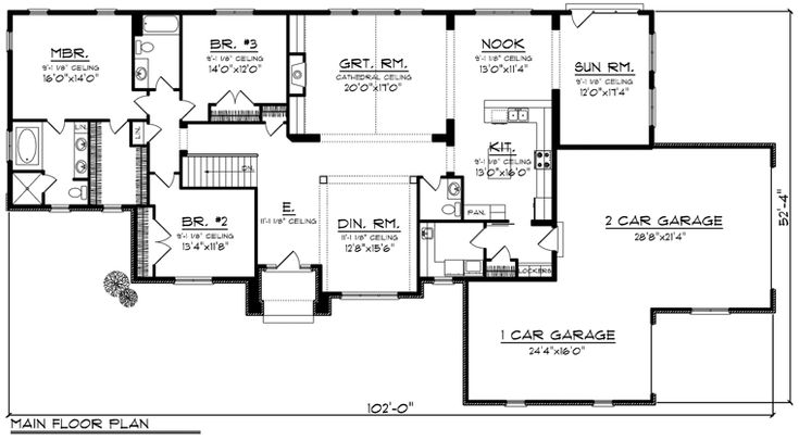 56 best house plans images on pinterest ranch home plans for Family home plans 82230