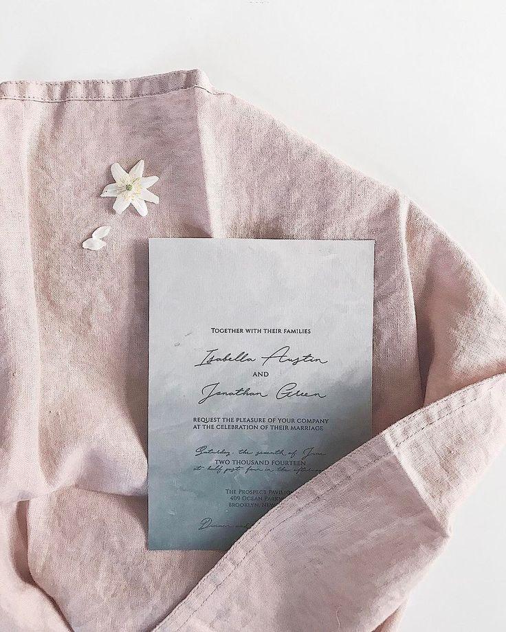 Fine art wedding invitation // Wedding, Blush, bespoke, modern, script