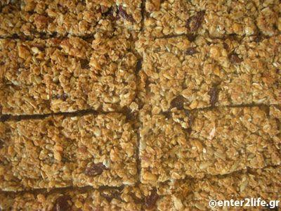 Σπιτικές Μπάρες Πρωτεΐνης με βρώμη, ξηρούς καρπούς και μέλι « enter2life.gr