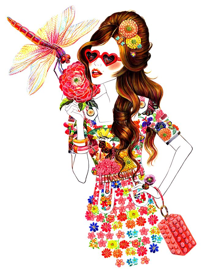 Moschino Spring 2013 RTW - Sunny Gu #fashion #illustration #fashionillustration