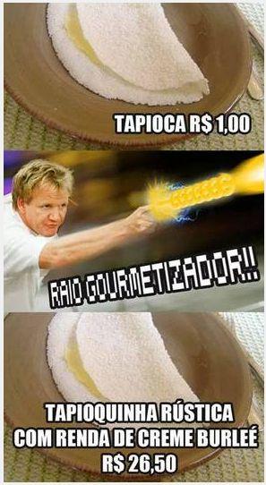 As imagens são da página Raio Gourmetizador, no Facebook.