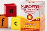 Nurofen for Children A helping hand for little ones. Nurofen for children is an Ibuprofen suspension that's specially formulated for babies and children from 3 months (weighing over 5kg). It works quickly to cool a high temperature and soothe away pains from teething, headache, sore throats and minor aches and strains.