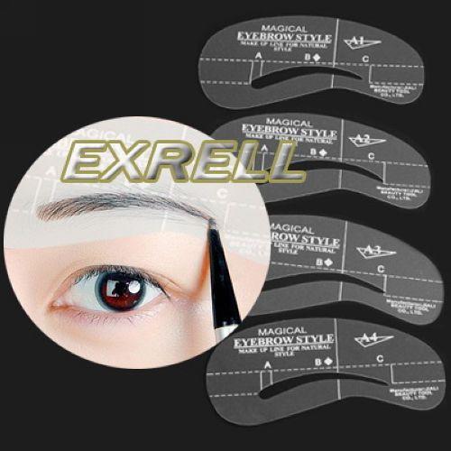 Stencil-per-Sopracciglia-Kit-Definizione-4-Forme-Cura-Sopracciglio-Trucco-Makeup