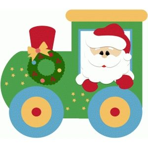 Silhouette Design Store - View Design #51493: santa express train christmas