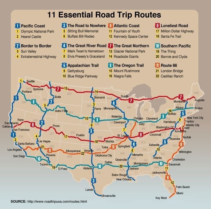 West Coast Tourist Attractions Driving Map Of Us East Coast ...
