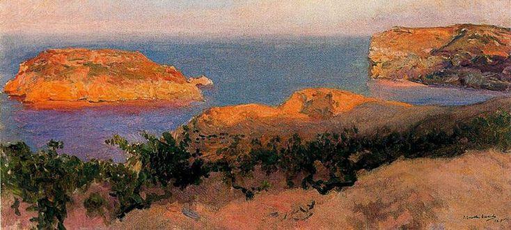 Isla del Portitxol Javea, óleo sobre lienzo de Joaquin Sorolla Y Bastida (1863-1923, Spain) Xàbia