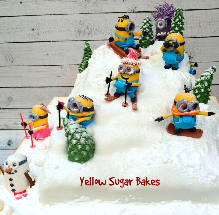Minion Ski Cake