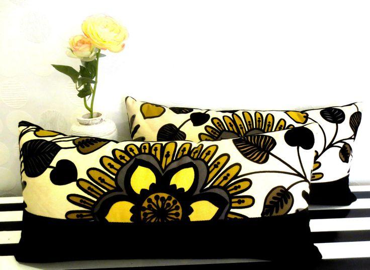 Cojín de flores terciopelo
