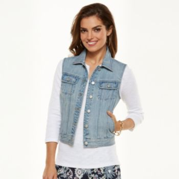 Chaps Jean Vest - Women's
