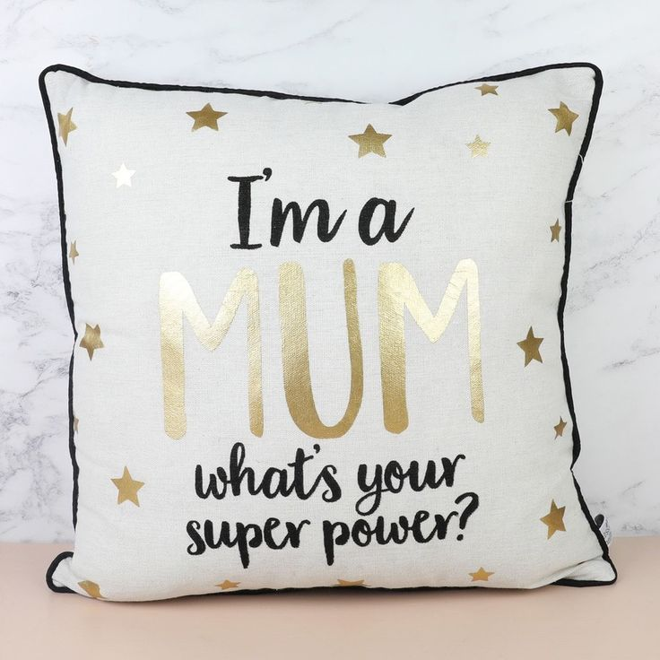 Looking for home furnishings? Our 'I'm a Mum' Metallic Cushion is perfect for a much loved Mumma. With Free Worldwide Delivery and No Minimum Spend.
