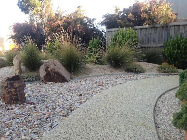 Natural winding path. Beach garden Torquay. Design Phillip Withers