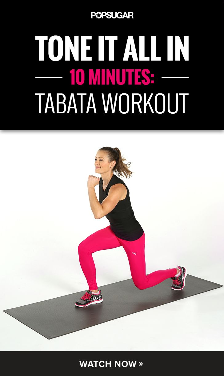 Try Tabata! This 10-minute workout will work your entire body and torch serious calories.