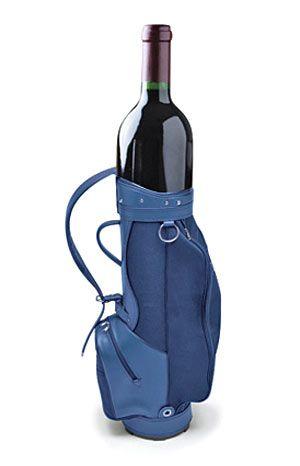 Annika Sorenstam wine club. Photoshopped bag, but someone should develop a line of golf bag wine covers.