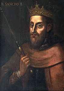 Dom Sancho II, O Capelo, quarto Rei de Portugal, filho de Afonso II,e de Dona Urraca de Castela.Nasceu em Coimbra a 07 de Setembro de 1209 e morreu em Toledo a 04 de Janeiro de 1248. Reinou de 1223-1247. Casou com D. Mécia Lopes de Haro.