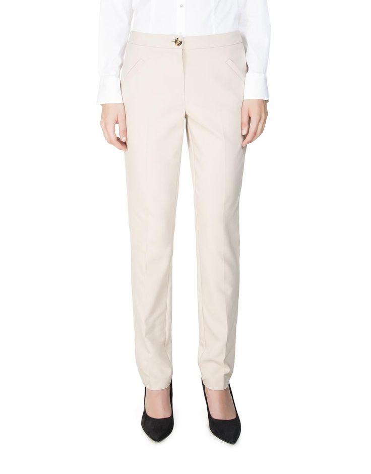 Pocket Detail Straight Leg Pants