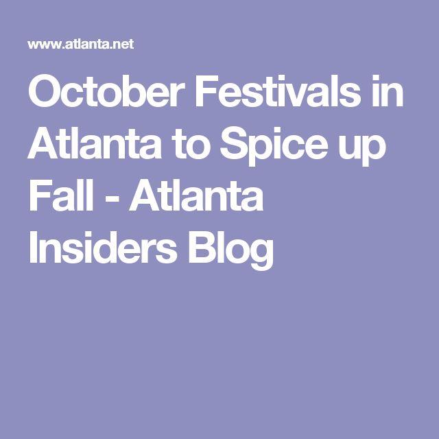 October Festivals in Atlanta to Spice up Fall - Atlanta Insiders Blog