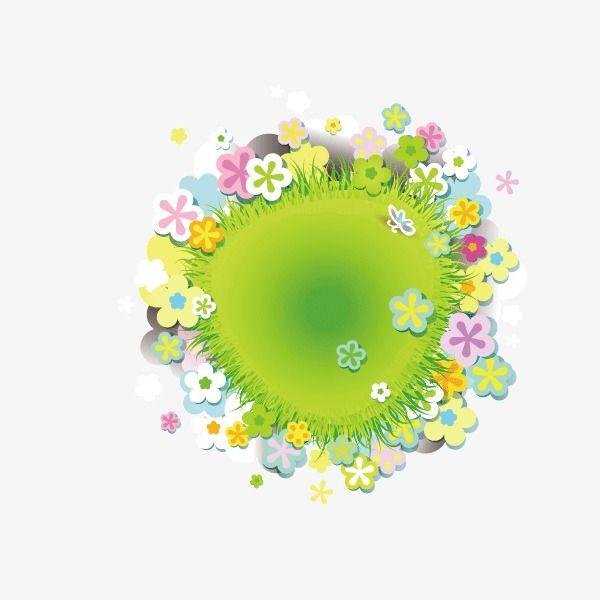 أخضر الزهور ربيع ملصق شعار الخلفية مؤلف عناصر أساسية Green Flowers Banner Flowers
