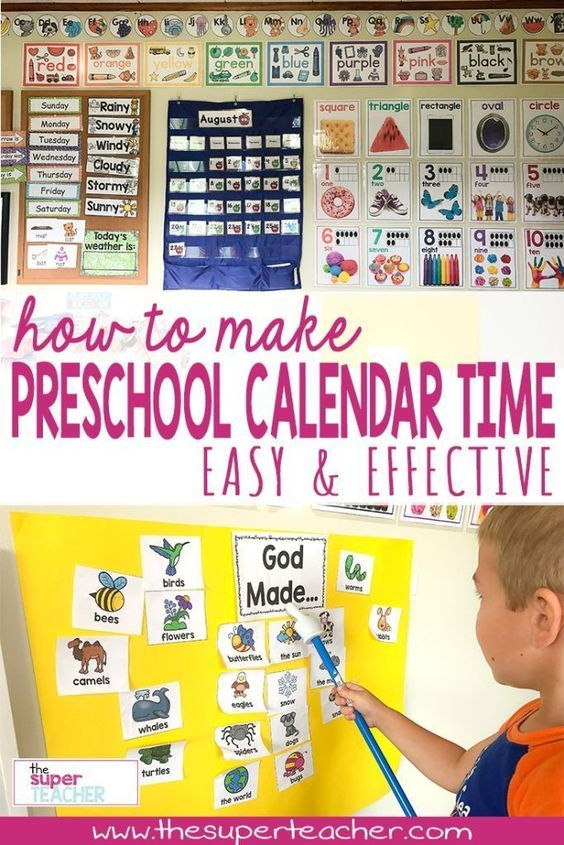 Preschool circle time can be stressful if not done correctly. Here's a step by step layout of my preschool calendar time. Read this post to find out how to keep the students engaged, practice fundamental skills, and keep calendar time running smoothly!