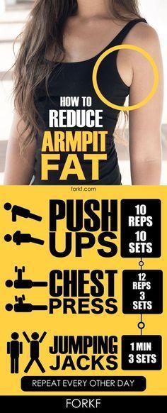 Reduce la grasa alrededor de las axilas con esta rutina :)