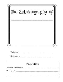 Biography essay template