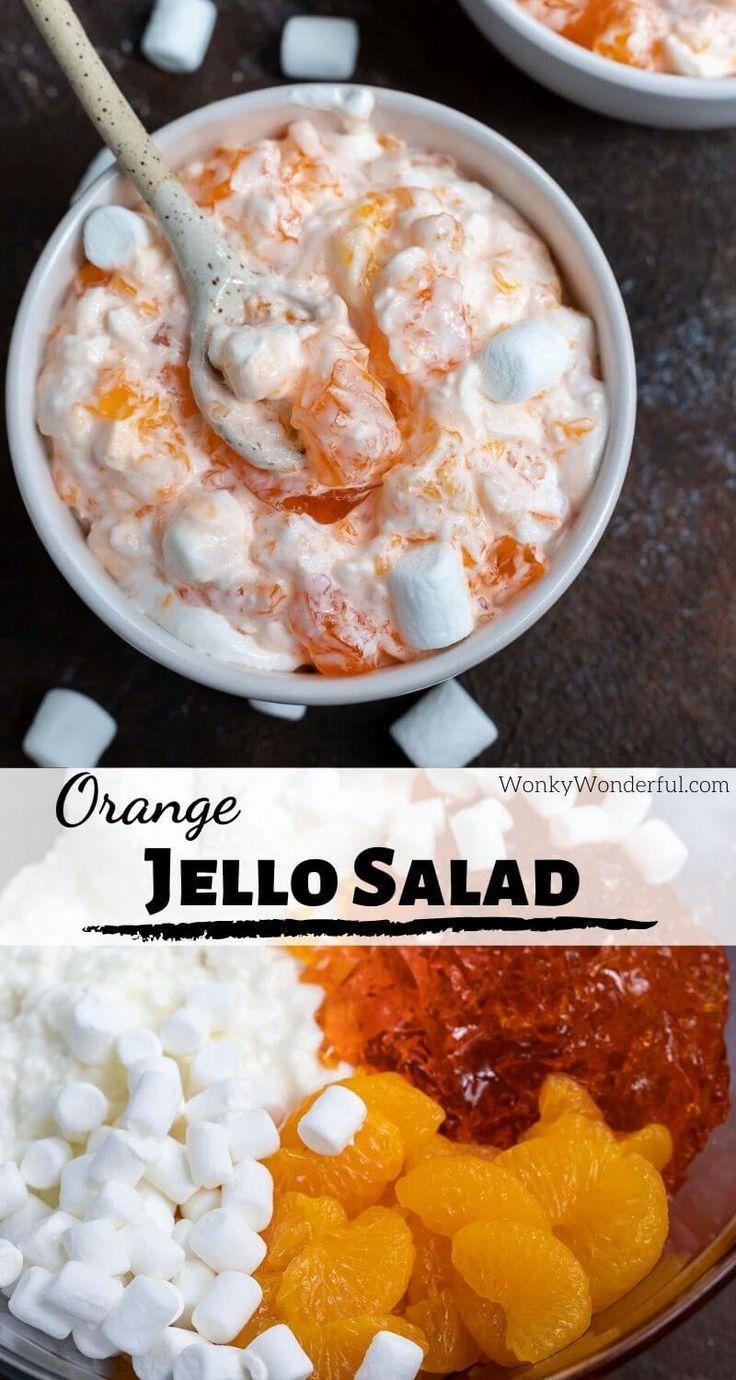 Cottage Cheese Orange Jello Salad Wonkywonderful In 2020 Jello Salad Orange Jello Salads Jello Recipes
