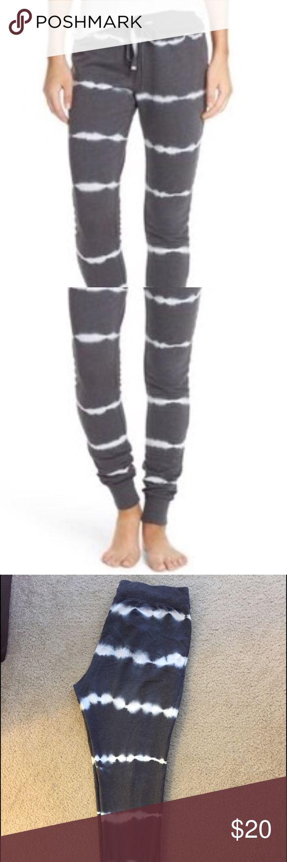 Make + Model fleece jogger lounge pants Make + Model fleece line jogger lounge pants. Never worn. Snug fit. Tie die stripe pattern. Purchased at Nordstrom. NWOT. Make + Model Intimates & Sleepwear