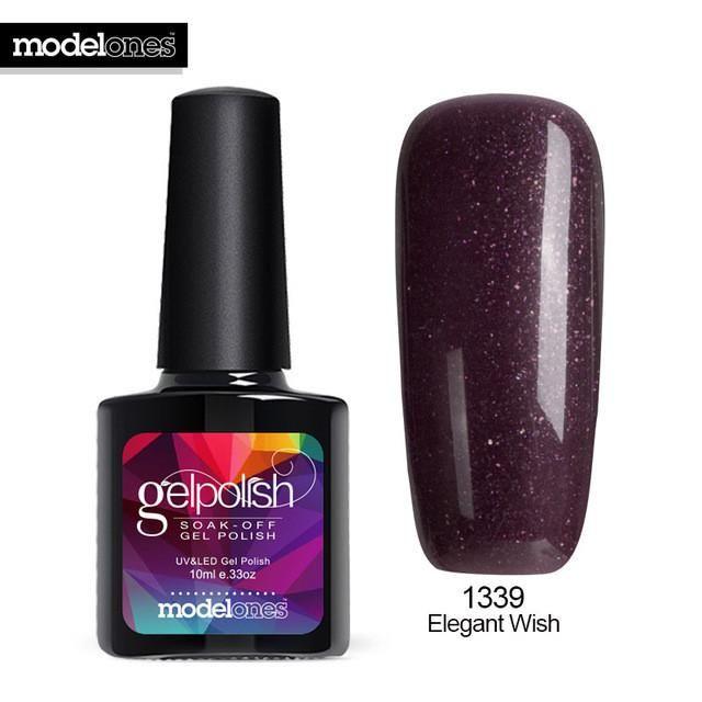 Modelones UV Nail Gel Polish UV Led Shining Colorful 10ml Long Lasting Soak off UV Nail Gel Cheap Manicure