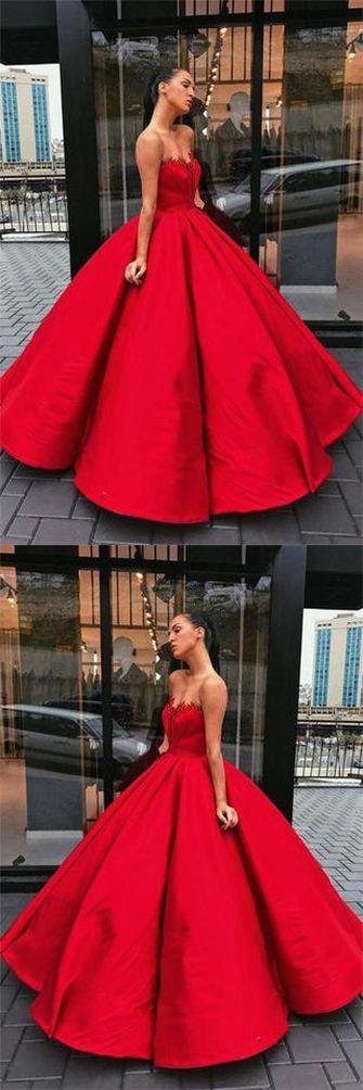 Charming Vintage #RedSweetheart Strapless Satin #BallGown Sleeveless Prom Dresses uk,#LongEveningDressuk