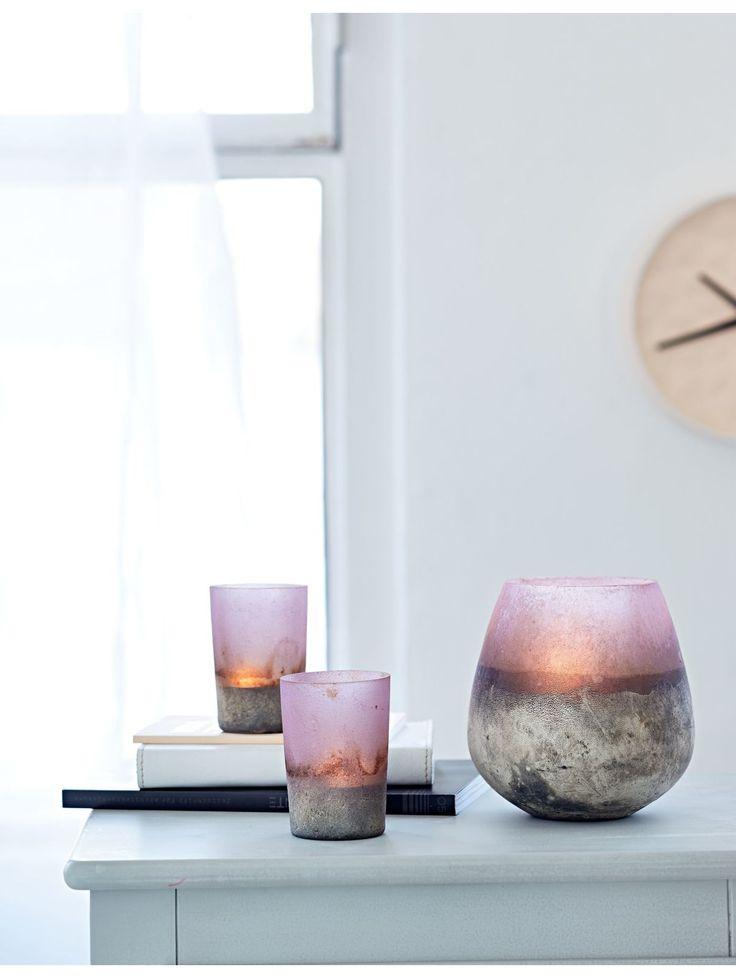 Teelicht-Set, 2-tlg., 2 Kerzengläser für je ein Teelicht, wunderschöner Farbverlauf.