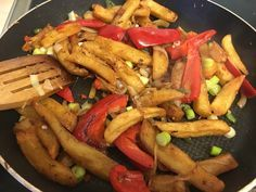 Vegan salt and pepper Chinese chips. Super spicy and absolutely delicious.