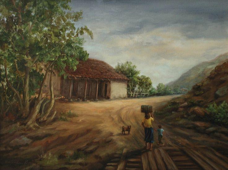 Gaby Landeros - Paisaje de Duao - Óleo sobre tela