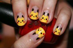 DIY Pikachu Nails #pokemon