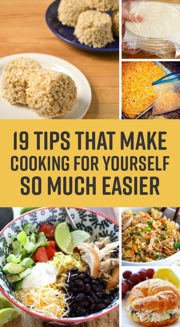 19 Easy Single-Person Cooking Ideas That Won't Waste Food Or Get Boring. Hint: It's all about the freezer!