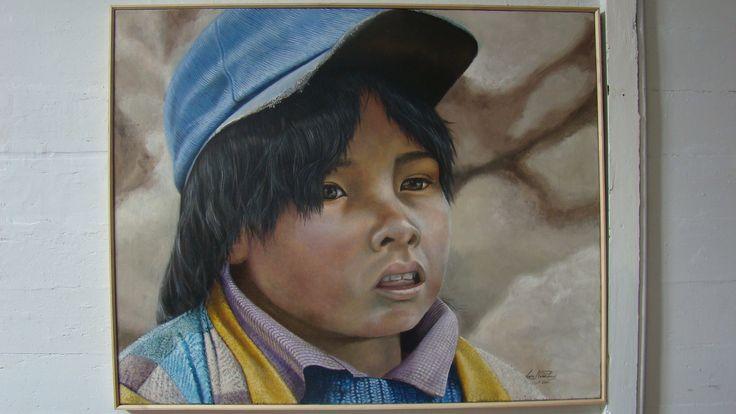 Luis Núñez, artista plástico #Antofagasta #Chile. Retrato en óleo sobre tela.