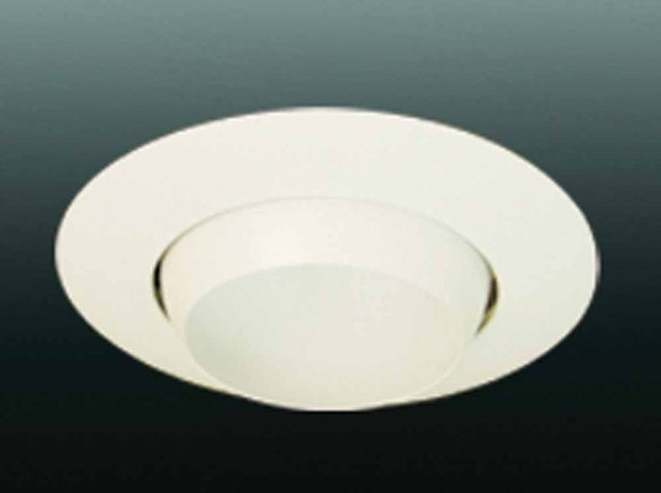 "Volume Lighting V8014 6"" Recessed Trim with Eyeball White Recessed Lights Recessed Trims Adjustable Trims"