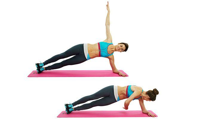 Side Plank Rotation Workout Tip Sheets Pinterest