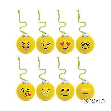 Emoji Krazy Straw Big Keepsake Cups - 8 Pk Party Supplies Canada - Open A Party